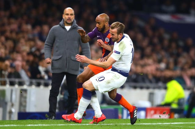 Harry Kane sustained the damage in a challenge with Fabian Delph
