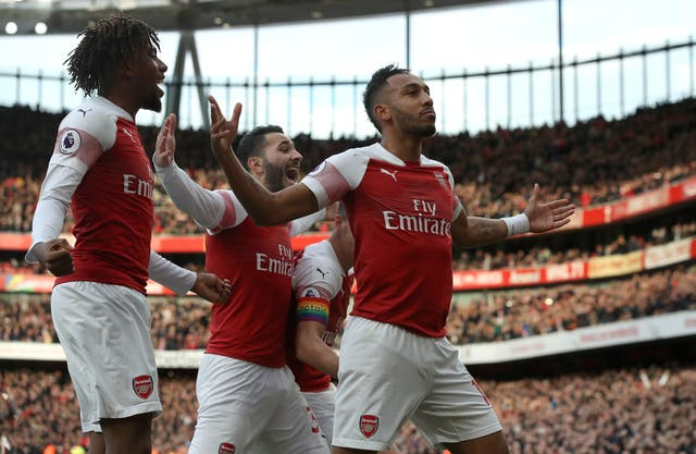 Pierre-Emerick Aubameyang's goals have been crucial (Nick Potts/PA Images)