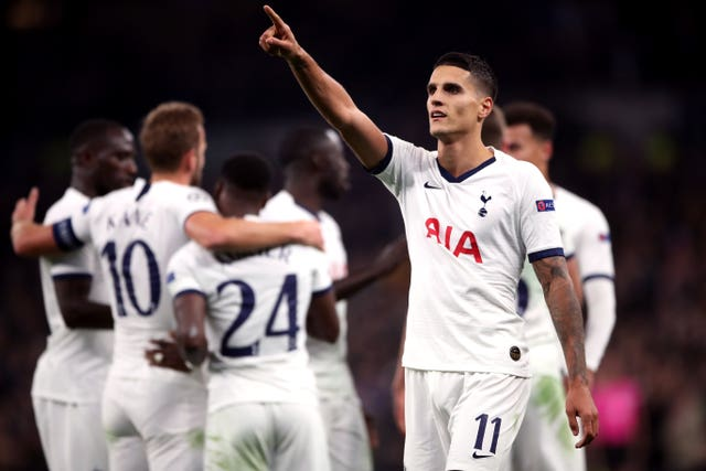 Erik Lamela scored on his 200th appearance for Spurs