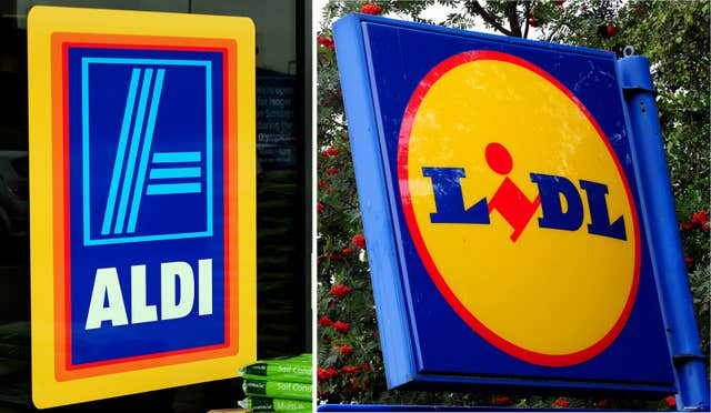 Budget supermarkets Aldi and Lidl were ranked highly in the annual Which? supermarket survey (PA)