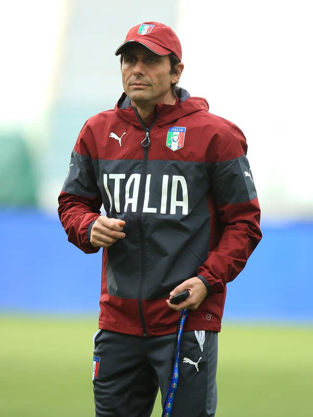 Conte managed Italy before joining Chelsea
