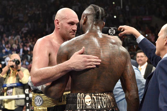 Fury and Wilder embraced after the final bell