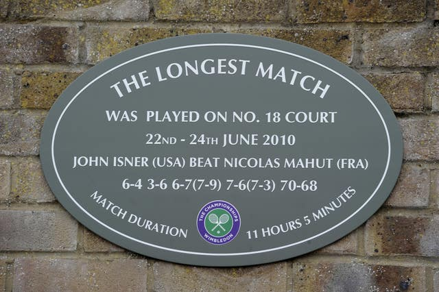 A plaque at Wimbledon commemorates the titanic match