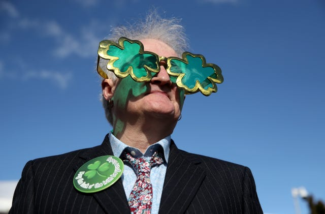 Robert Robinson from Belfast gives a reminder just in case you didn't get the St Patrick's theme memo