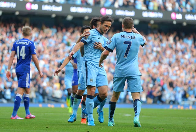 Frank Lampard did not celebrate his goal for Manchester City against Chelsea