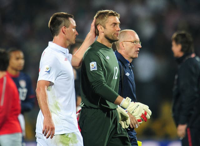 Rob Green's blunder saw England stutter to a 1-1 draw with USA on this day in 2010