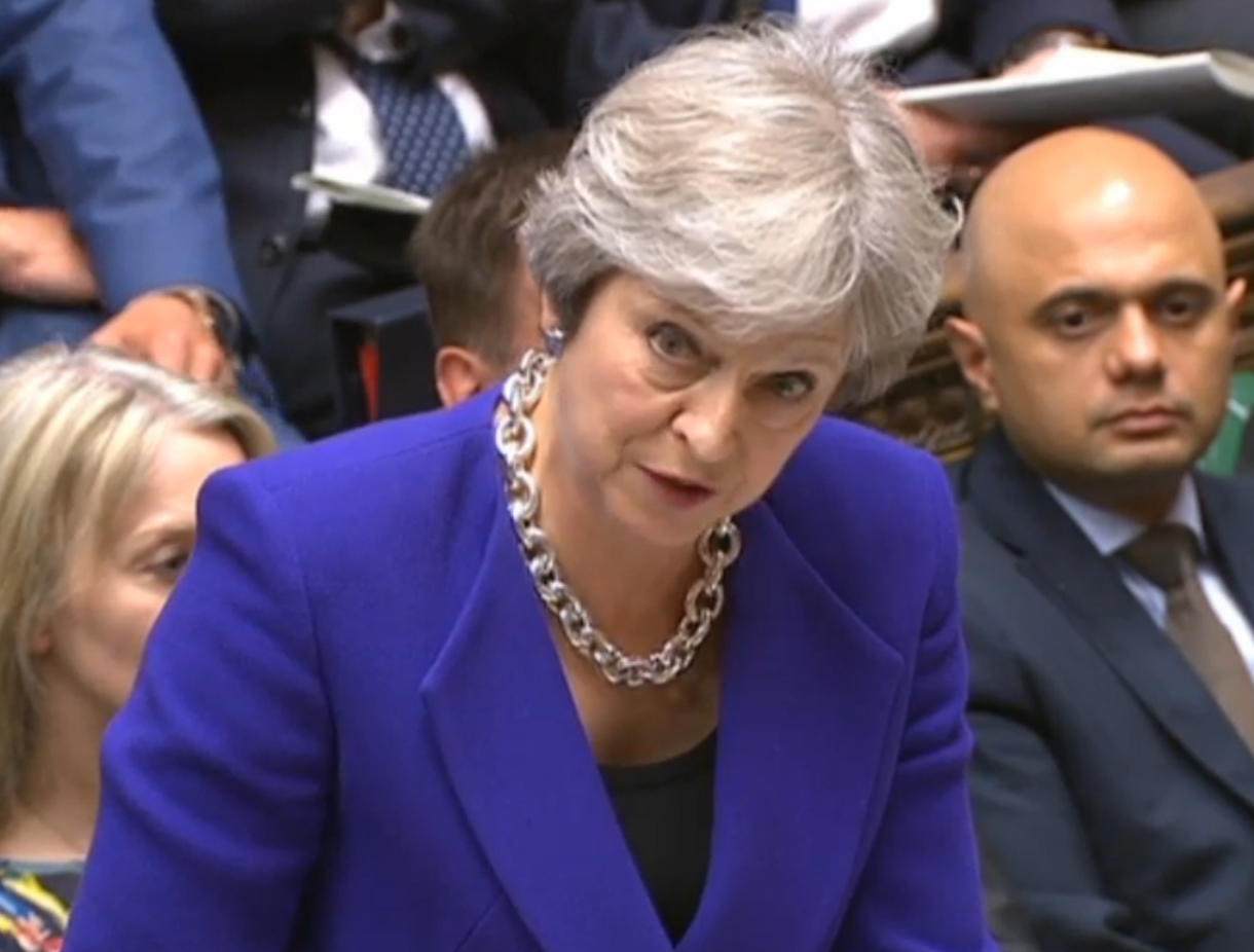 Theresa May Narrowly Avoids Defeat In UK Parliament On Trade Laws