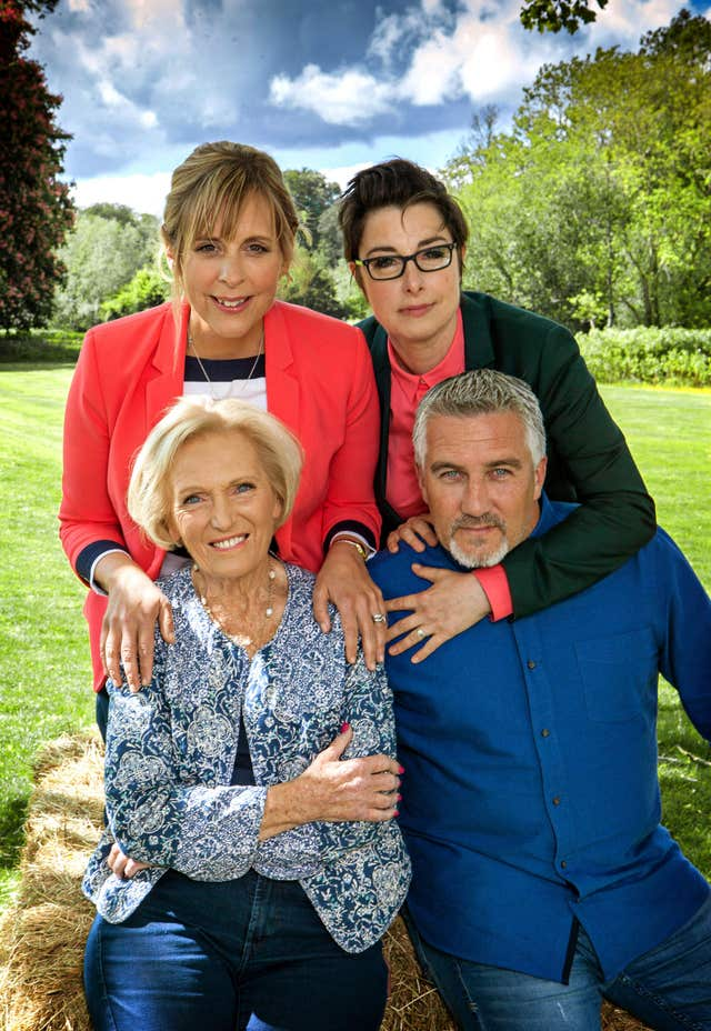 The former Bake Off presenter and judging line-up