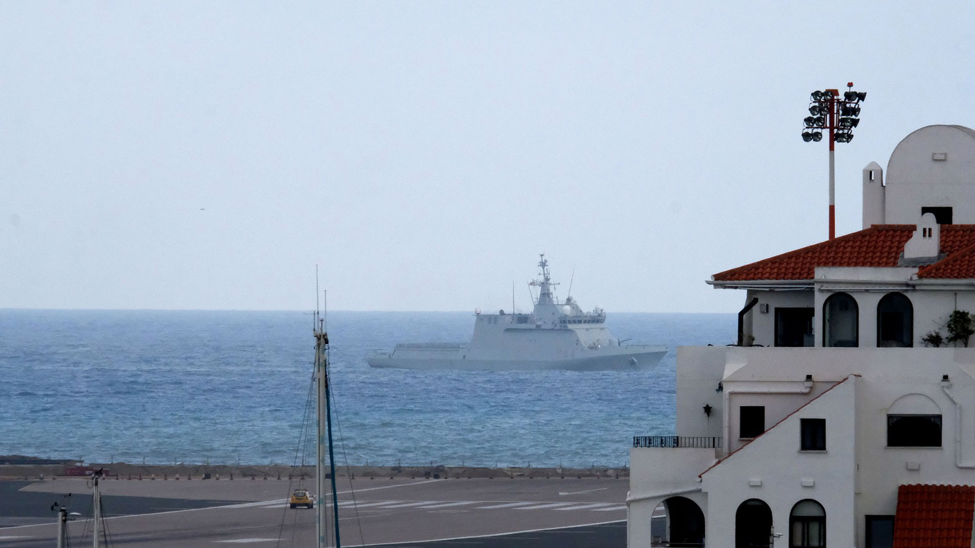 Spanish warship ordered commercial vessels to leave British waters near Gibraltar
