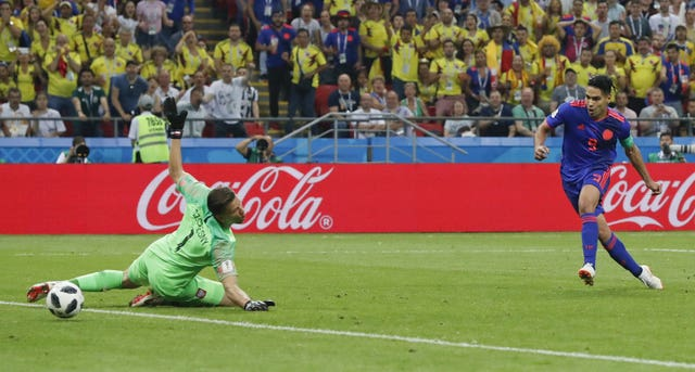 Radamel Falcao adds a second for Colombia (Frank Augstein/AP)
