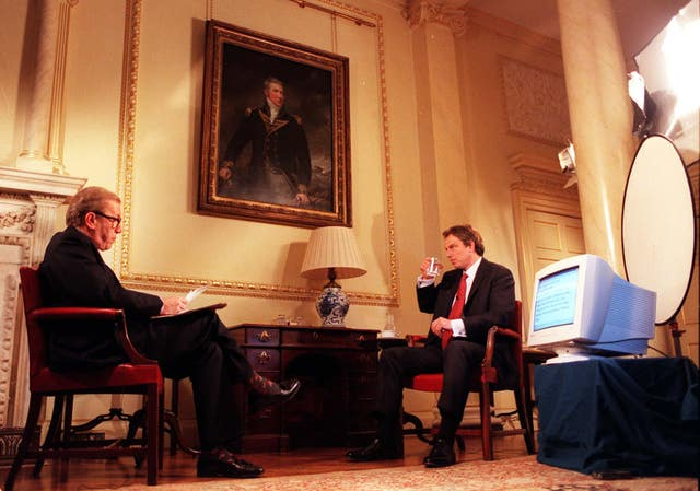 Tony Blair's interview with David Frost in 1998 was streamed on the internet (Andrew Stuart/PA)