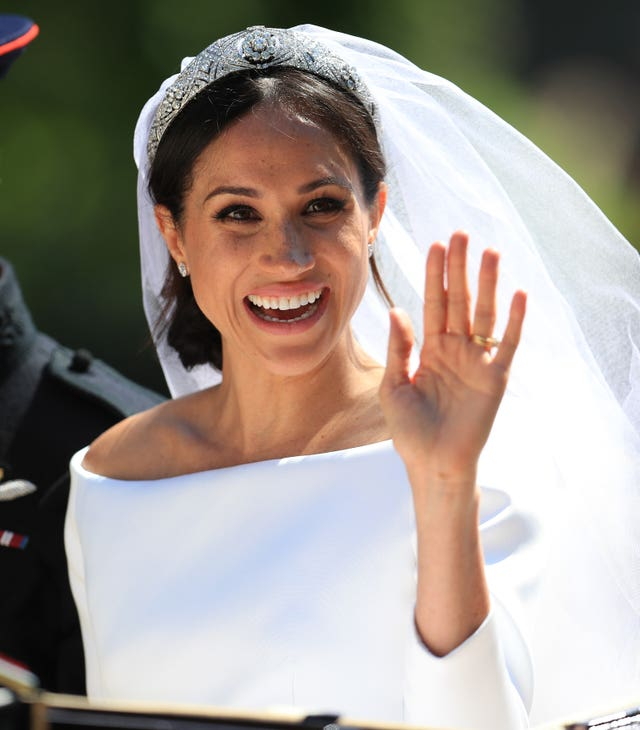 The Duchess of Sussex on her wedding day