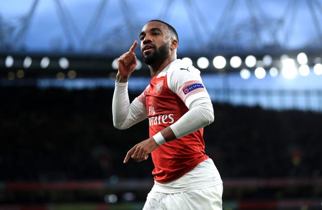 Lacazette struck twice as Arsenal beat Valencia in the first leg of their semi-final clash.