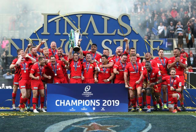 Saracens won last season's Champions Cup final
