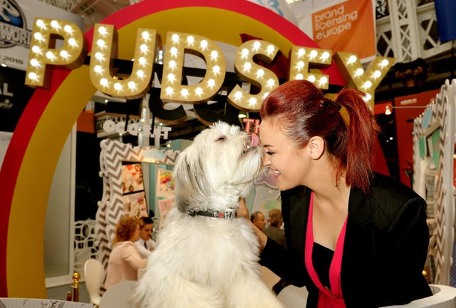Pudsey the Dog with his owner Ashleigh Butler