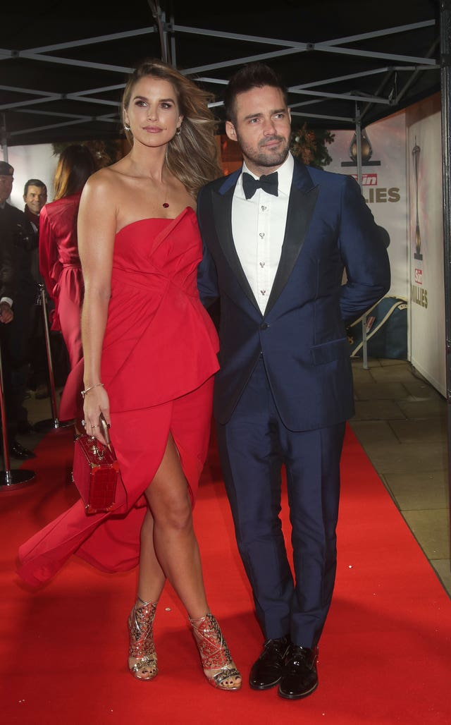 Vogue Williams and Spencer Matthews (Yui Mokt/PA)
