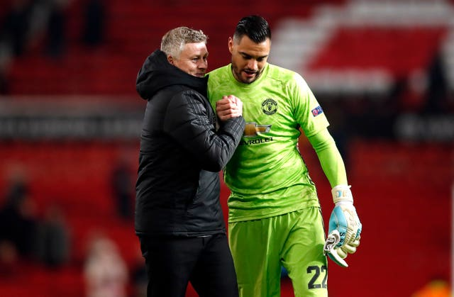 Sergio Romero was called into action in the first half