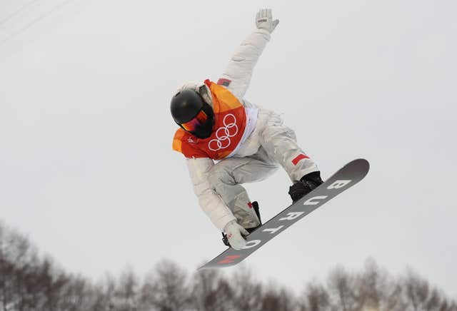 Shaun White on his way to an historic third halfpipe Olympic gold at Phoenix Snow Park