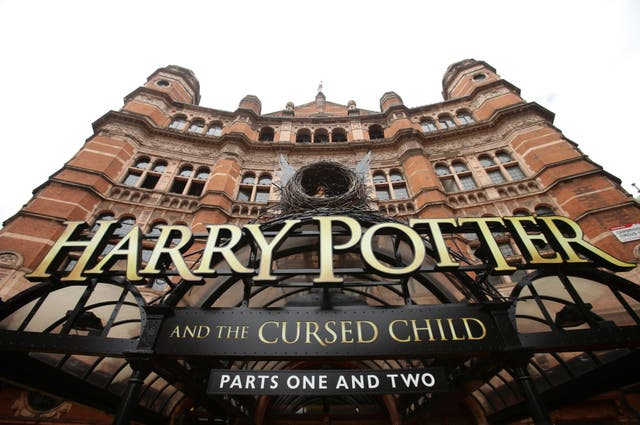Harry Potter And The Cursed Child signage