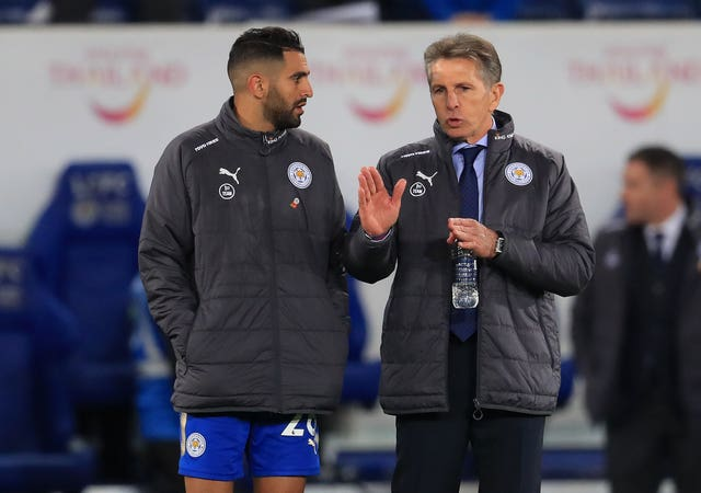 Riyad Mahrez and Claude Puel