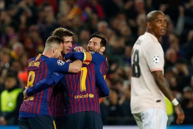 Ashley Young, right, was abused online during Manchester United's Champions League defeat to Barcelona