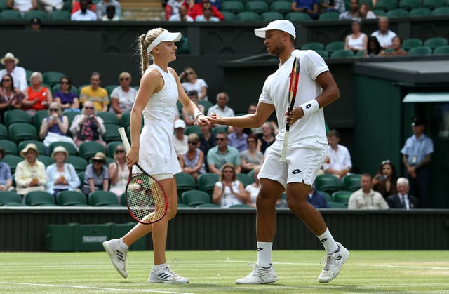 Harriet Dart and Jay Clarke are in the mixed doubles semi-final