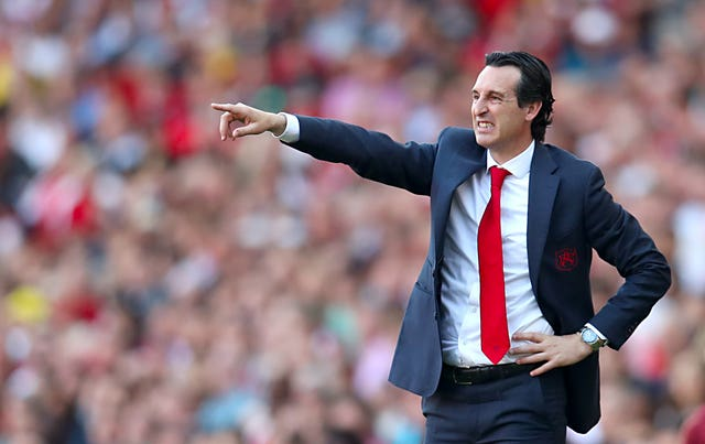 Unai Emery, pictured, remains confident Arsenal can still secure a top-four Premier League finish