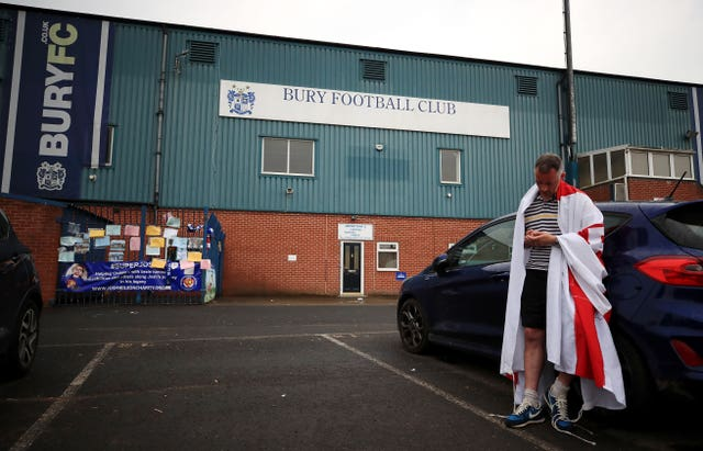 Bury's financial problems saw the club expelled from the EFL