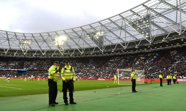 Security and safety at the London Stadium is again under the spotlight (Daniel Hambury/PA Images)