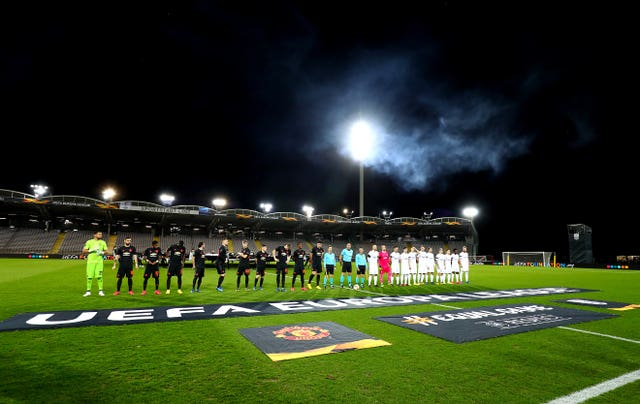 Manchester United's Europa League last-16 first leg at LASK was played behind closed doors in Linz due to Austria's Covid-19 measures