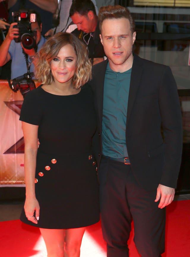 Caroline Flack and Olly Murs