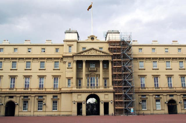 Building work at Buckingham Palace