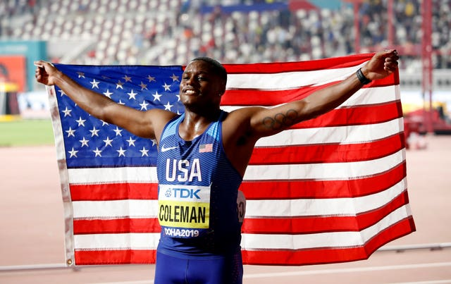 Christian Coleman won the men's 100m final at the World Championships in Qatar
