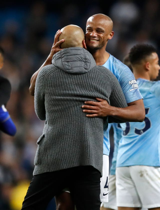 Vincent Kompany struck a stunning winner against Leicester