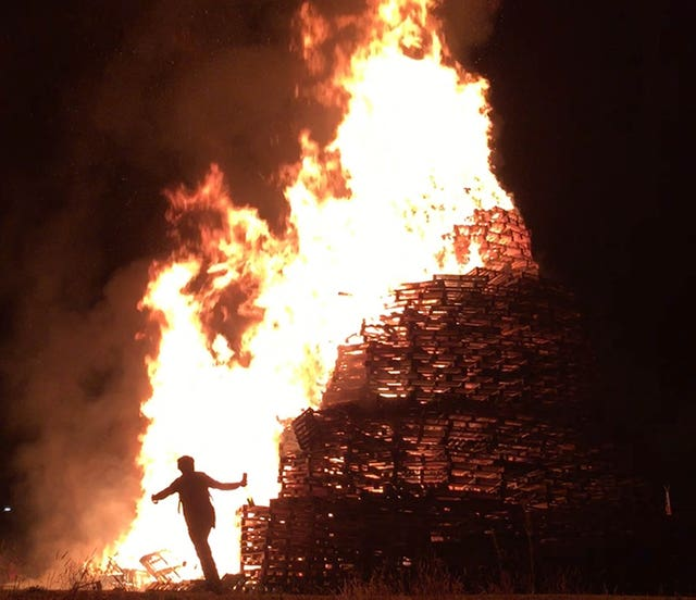 Orangefield Park bonfire in east Belfast