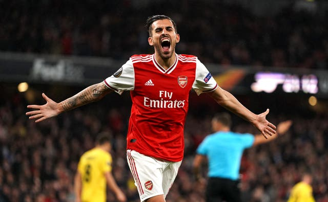 Dani Ceballos scored his first goal for Arsenal