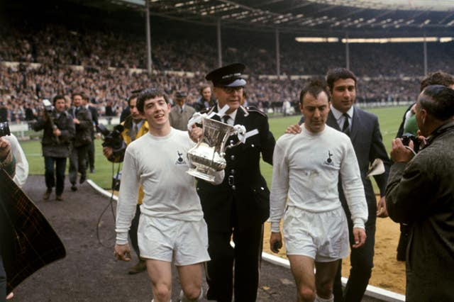 Jimmy Greaves, right, was a part of two FA Cup-winning Tottenham teams