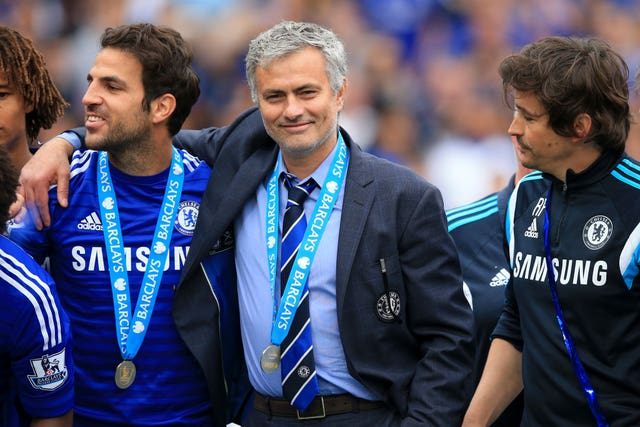 Cesc Fabregas won his first Premier League title under Jose Mourinho at Chelsea