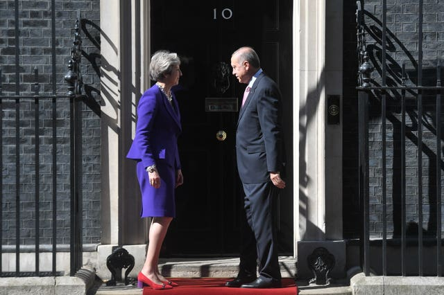 The two leaders will hold talks on issues including Syria (Victoria Jones/PA)
