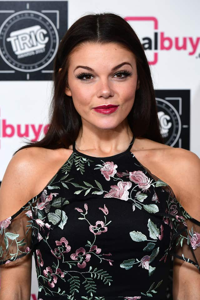 Coronation Street's Faye Brookes who has said that she was worried about the potential backlash when she found our her character Kate Connor was going to be in a lesbian romance with Rana Nazir (Ian West/PA)