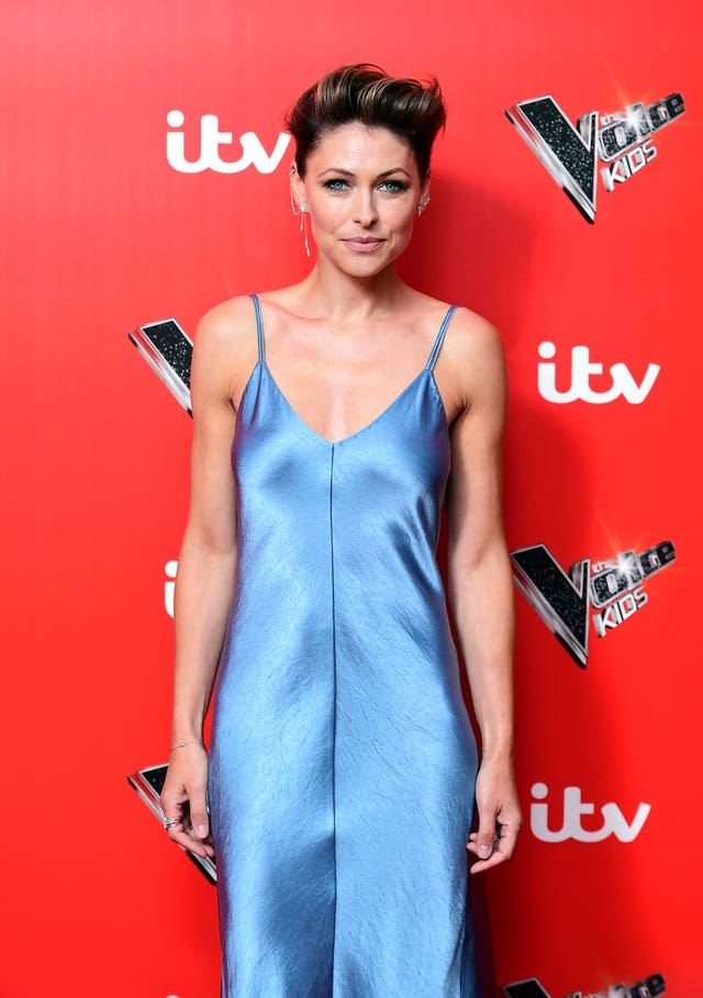 Emma Willis at The Voice Kids