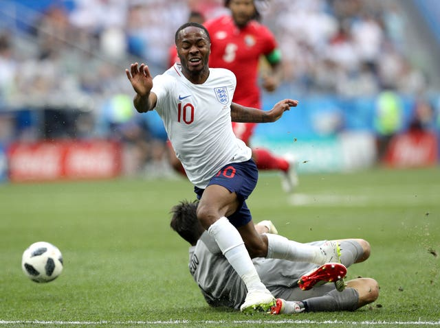 Sterling failed to find the back of the net for England in the World Cup