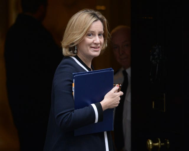 Home Secretary Amber Rudd, (Victoria Jones/PA)