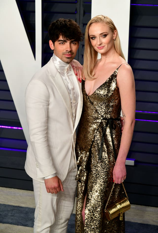 Joe Jonas and Sophie Turner attending the Vanity Fair Oscar Party