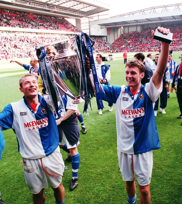 Chris Sutton, left, and Alan Shearer