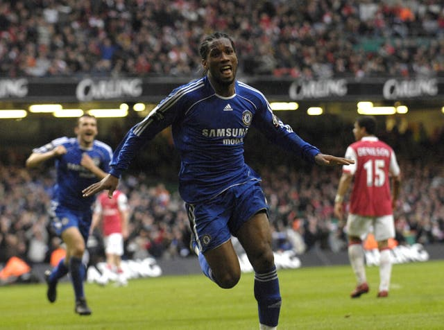 Drogba would also score twice as Chelsea beat Arsenal 2-1 in the 2007 League Cup final.