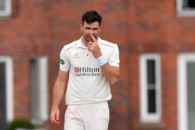 James Anderson is bidding to prove his fitness before the Test series against South Africa (Anthony Devlin/PA)