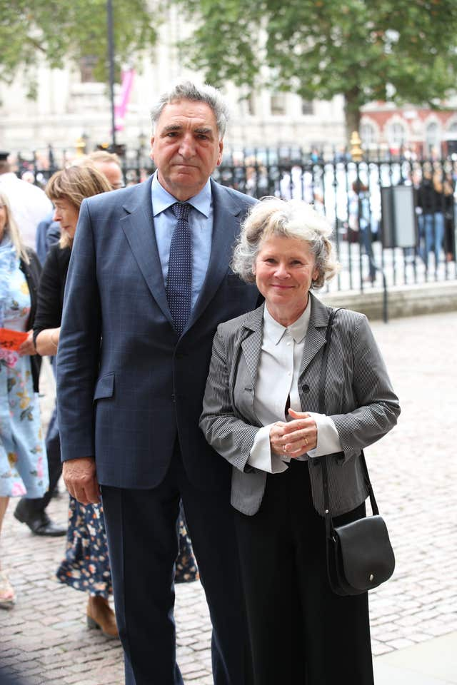 Imelda Staunton and husband Jim Carter