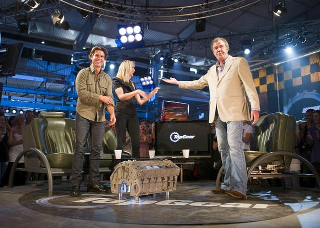 Jeremy Clarkson with Cameron Diaz and Tom Cruise on Top Gear