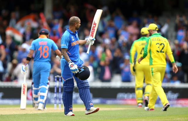 Shikhar Dhawan made an impressive century against Australia at the weekend (Nigel French/PA)